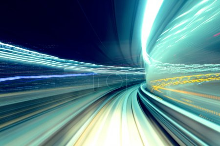 Photo pour Train rapide passage tunnel - image libre de droit