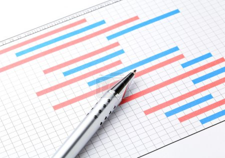Photo for Project plan gantt charts - Royalty Free Image