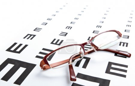 Photo for Eyeglasses and eye chart - Royalty Free Image