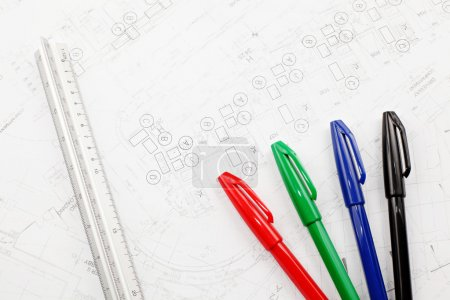 Photo for Engineering drawing - Royalty Free Image