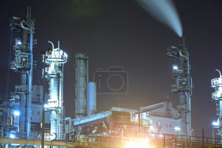 Photo for Industrial plant at night - Royalty Free Image