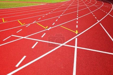 Red racetrack