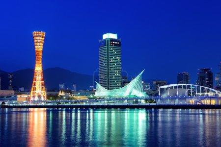 Kobe skyline at night