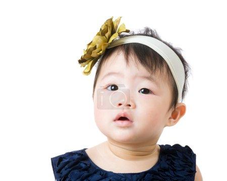Photo pour Petite fille hésitant - image libre de droit