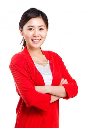 Photo for Asian woman isolated - Royalty Free Image