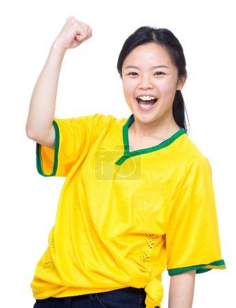 Female asian soccer fans