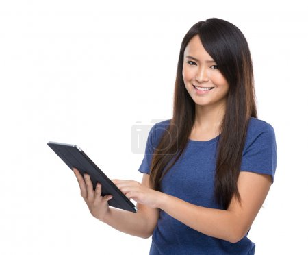 Asian woman use digital tablet