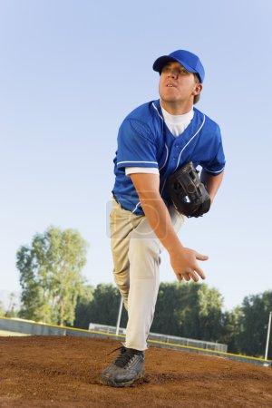 Baseball Pitcher On Mound