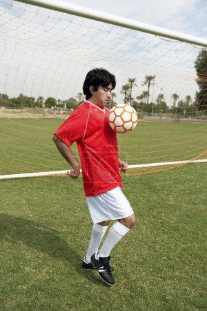 Player Practicing Football Skills