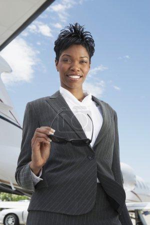 Confident Businesswoman At Airport