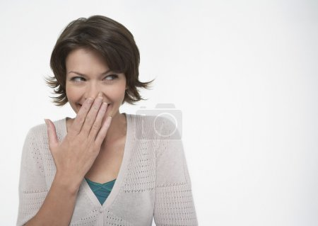 Woman Hiding Her Smile