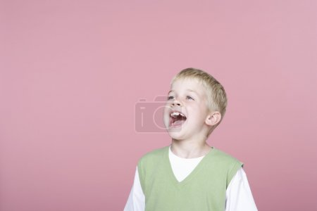 Cute Little Boy Screaming