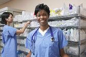 Female Doctor In Hospital Room