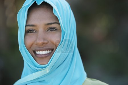 Muslim woman in headscarf