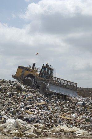Trash Accumulated At A Landfill