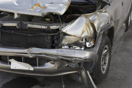 Photo for Closeup of a damaged car - Royalty Free Image