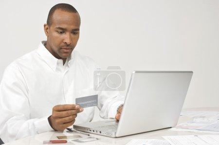 Man Making Online Transaction