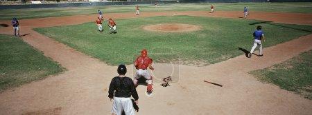 Baseball Players Playing Tournament