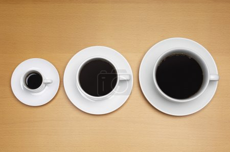 Different Sizes Of Coffee Cups