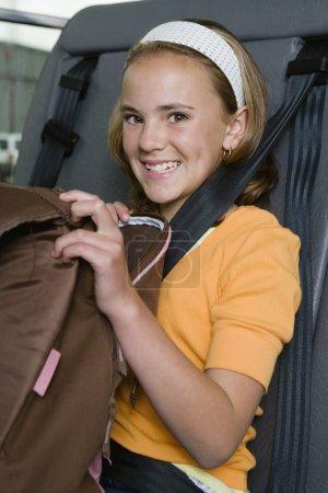 Elementary Student On School Bus