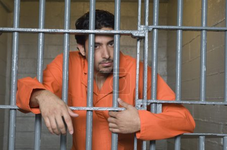 Prisoner Behind Bars