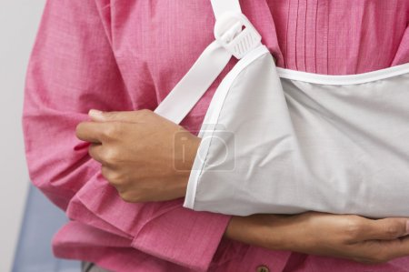 Woman's Arm In Sling