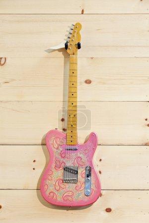 Pink paisley guitar
