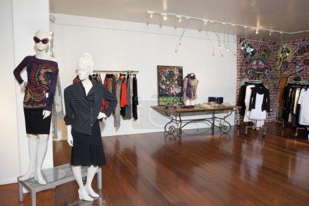 Interior of a fashion boutique