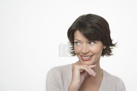 Beautiful Woman Looking Sideway