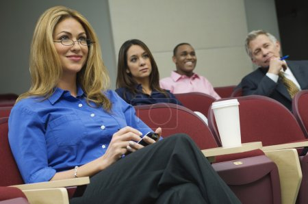 business colleagues during seminar