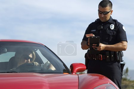 Traffic Cop By Sports Car