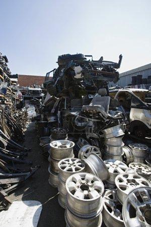 Vehicle Parts At Junkyard