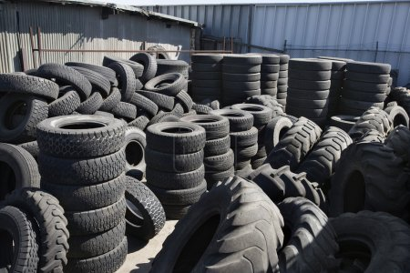 Tires In Recycling Centre