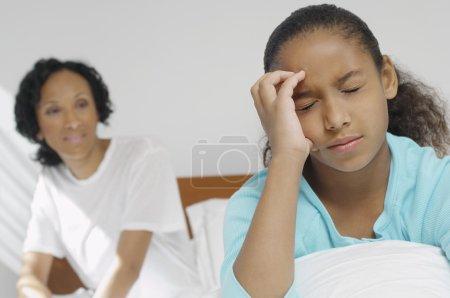 Girl Suffering From Severe Headache