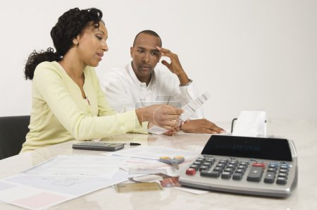 Couple Planning Their Financial Budget
