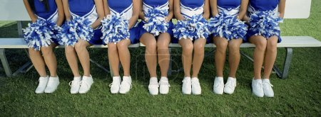 Low Section Of Cheerleaders With Pom-Pom