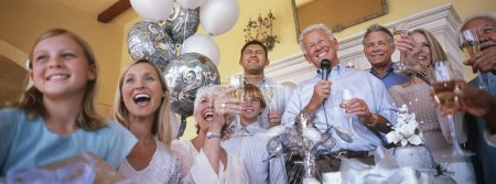 Cheerful family celebrating party