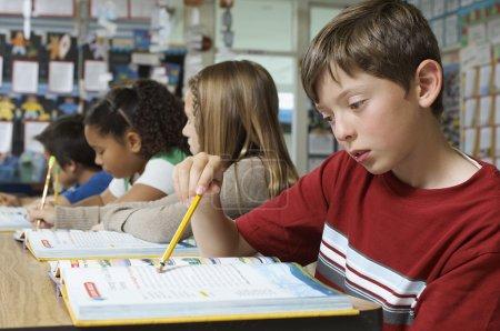 Multiethnic pupils in the classroom