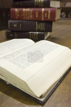 Legal Books In Courtroom