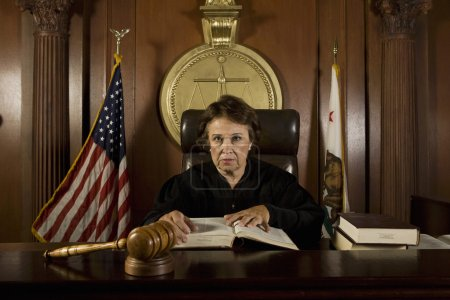 Judge Sitting In Courtroom