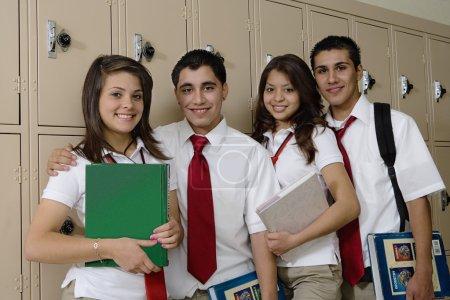 High School Students Beside School Lockers