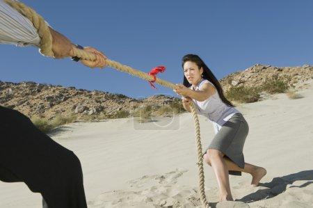 Business Playing Tug Of War