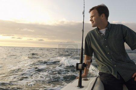Fisherman on boat