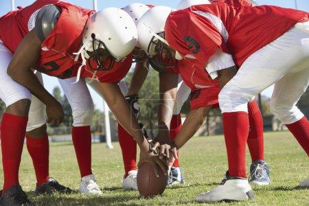 Football Players around ball