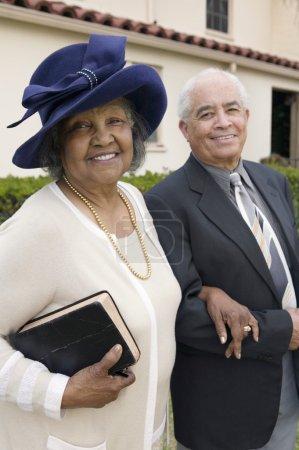 Senior Couple Going to Church