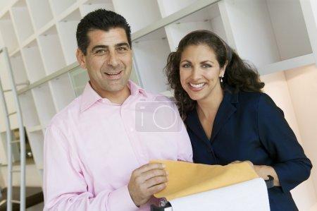Couple Examining Fabric Swatches