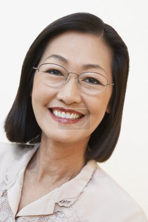 Middle aged asian woman