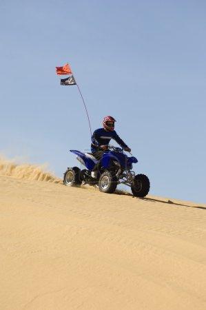 Young Man Riding ATV