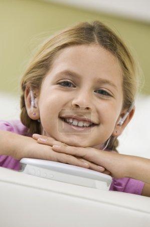Girl Listening CD Player