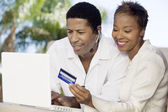 Couple Buying Online